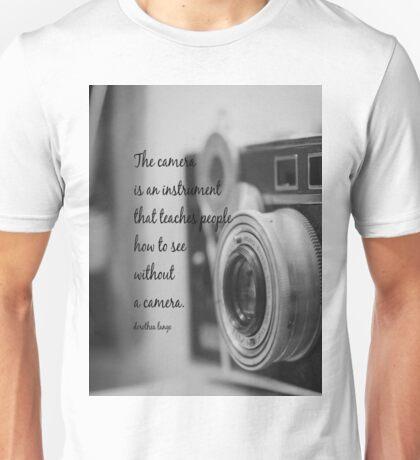 Dorothea Lange Camera Unisex T-Shirt