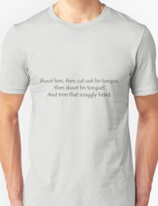 Tongue Quote Black T-Shirt