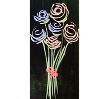 Fleeting Flowers - Chalkboard Art Photographic Print
