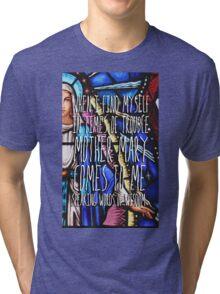 Let it Be - The Beatles - Lyric Poster Tri-blend T-Shirt