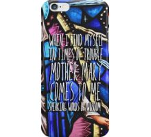 Let it Be - The Beatles - Lyric Poster iPhone Case/Skin