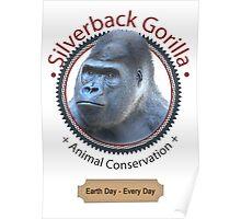 Silverback Gorilla Animal Conservation Poster