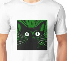 Green Comic Feline Cat Unisex T-Shirt