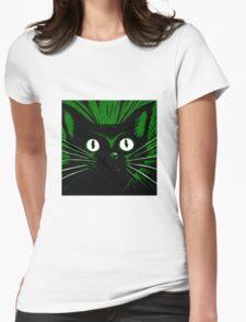 Green Comic Feline Cat T-Shirt
