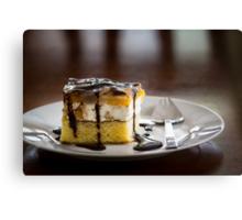 Peach-cheese cake Canvas Print