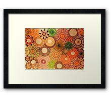 Autumn Coloured Spirograph Design Framed Print