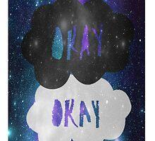 Okay Okay Galaxy iPhone Case by arosef1027