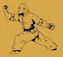 Kung Fu Retro Ink Drawing Martial Art by wanderingflame