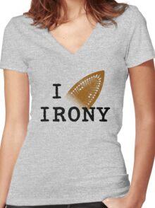 I iron irony Women's Fitted V-Neck T-Shirt