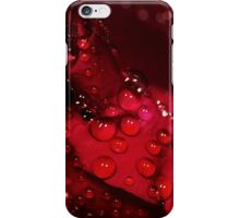red rose and water drops iPhone Case/Skin