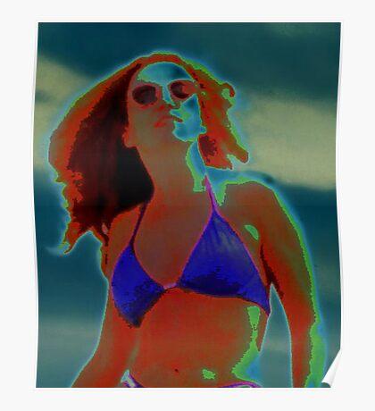 Divine Feminine in a Blue Bikini Poster
