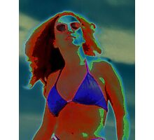 Divine Feminine in a Blue Bikini Photographic Print