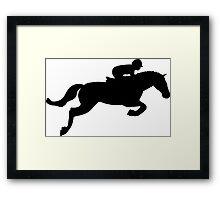 Horse Jump Framed Print