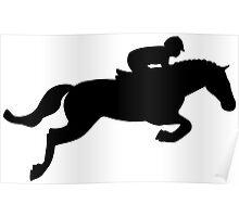 Horse Jump Poster
