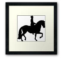Dressage Horse Framed Print