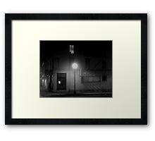 Midnight in Noirsville Framed Print