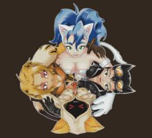 Kitty Cuddle: Felicia, Seliena, Cheetara, Taokaka by trakker1985