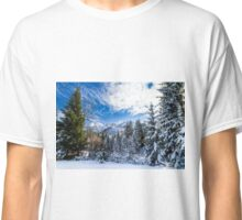 First snow at the mountain Classic T-Shirt