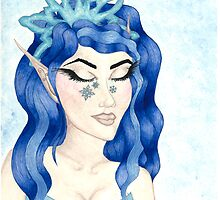 December - Elf - Snowflake - Princess - Snow by bfriedmanart