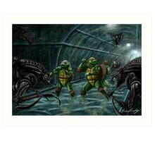 TMNT Vs. Aliens Art Print