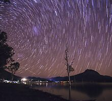 Star Trails Over Lake Moogerah by McguiganVisuals