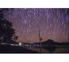 Star Trails Over Lake Moogerah Photographic Print