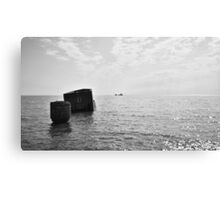 Barge on the Horizon Canvas Print