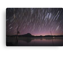 Star Trails Over Lake Moogerah 2 Canvas Print