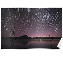 Star Trails Over Lake Moogerah 2 Poster