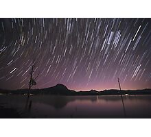 Star Trails Over Lake Moogerah 2 Photographic Print