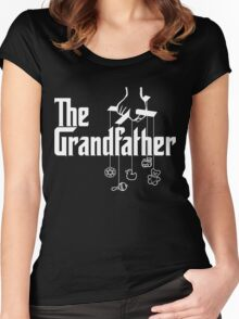 The Grandfather - Mafia Movie Style Grandpas! Women's Fitted Scoop T-Shirt