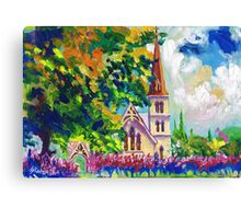 White Church Painting Wall Art by Ekaterina Chernova Canvas Print
