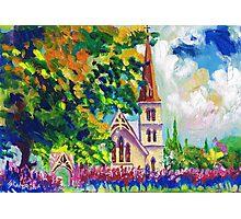 White Church Painting Wall Art by Ekaterina Chernova Photographic Print