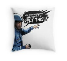 Beetham Riots Design 1 Throw Pillow