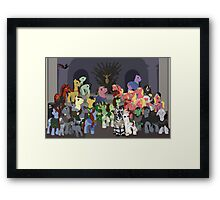 Game of Thronies: Power is Magic Framed Print