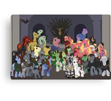 Game of Thronies: Power is Magic Canvas Print