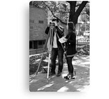 Surveying Canvas Print