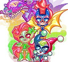 Chibi Gotham Girls by Penelope Barbalios
