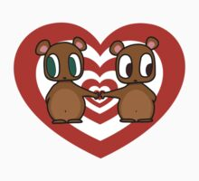 Kawaii Chipmunks in Love T-Shirt