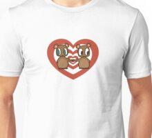 Kawaii Chipmunks in Love Unisex T-Shirt