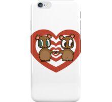 Kawaii Chipmunks in Love iPhone Case/Skin