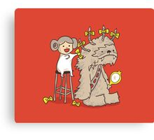 Wookie is a wonderful friend Canvas Print