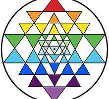 Sri Yantra Rainbow by anamana