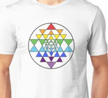 Sri Yantra Rainbow Unisex T-Shirt