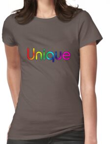 UNIQUE (Rainbow) Womens Fitted T-Shirt
