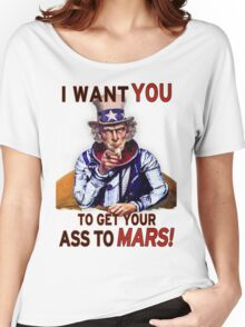 Uncle Sam - Get your Ass To Mars Women's Relaxed Fit T-Shirt