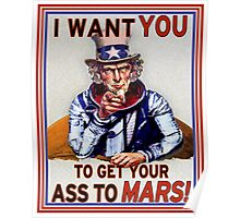 Uncle Sam - Get your Ass To Mars Poster