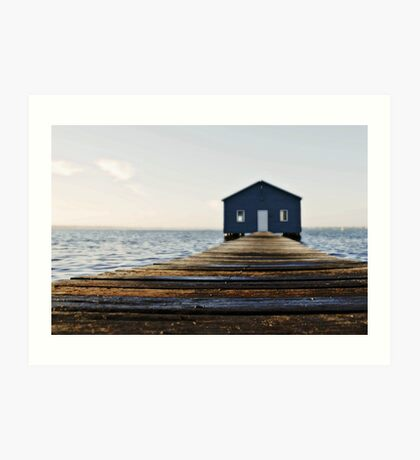 Crawley Edge Boat Shed Perth Art Print