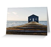Crawley Edge Boat Shed Perth Greeting Card