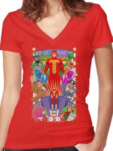 """""""It's Turbo Time!"""" Women's Fitted V-Neck T-Shirt"""